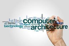 Rechnerarchitektur-Wortwolke stock abbildung