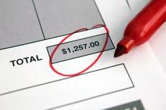 Rechnung stockfoto