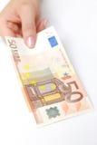 Rechnung des Euro 50 Stockfotografie