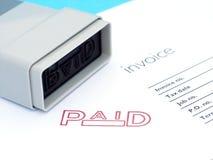 Rechnung gezahlt lizenzfreie stockbilder