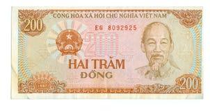Rechnung mit 200 Dong von Vietnam Lizenzfreies Stockfoto