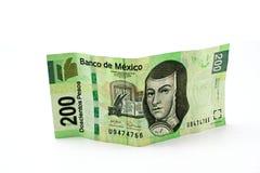 Rechnung mit 200 Pesos Lizenzfreie Stockfotografie