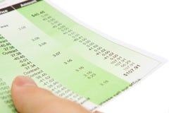 Rechnungen Stockfotos