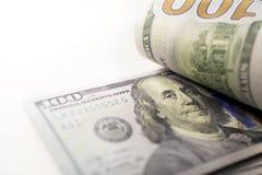 Rechnungen Franklins 100 Stockfoto