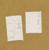 Rechnungen oder Empfänge Stockbilder
