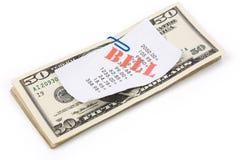 Rechnungen und Dollar Stockbilder
