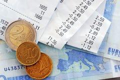 Rechnungen und Geld Lizenzfreies Stockfoto