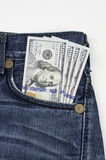 $100 Rechnungen USA in der Tasche Stockbilder