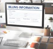 Rechnungs-Zahlungsinformationen-Form-Grafik-Konzept Lizenzfreie Stockfotografie