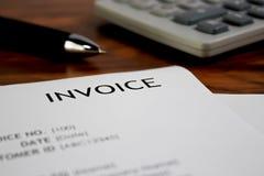 Rechnungsbriefkopf lizenzfreie stockbilder