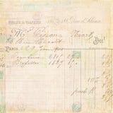 Rechnungsempfangs-Indexhintergrund der Weinlese französischer Lizenzfreies Stockbild