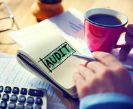 Rechnungsprüfungs-Buchhaltungs-Buchhaltungs-Finanzinspektions-Konzept Lizenzfreies Stockbild