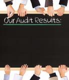 Rechnungsprüfungs-Ergebnisse Lizenzfreies Stockbild