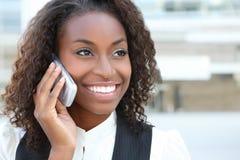 Recht afrikanische Geschäftsfrau stockbild