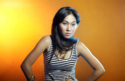 Recht asiatische Frau lizenzfreies stockbild