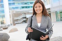 Recht asiatische Geschäftsfrau Stockfoto