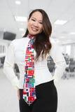 Recht asiatische Geschäftsfrau Lizenzfreie Stockfotos
