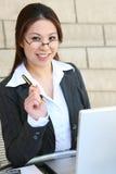 Recht asiatische Geschäftsfrau Stockbilder
