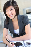 Recht asiatische Geschäftsfrau Stockbild