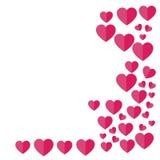 Recht-ausgerichtete Herzen Valentinsgruß `s Tag Auch im corel abgehobenen Betrag frei Lizenzfreie Stockfotografie