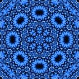 Recht blaue BlumenMandala Stockbild
