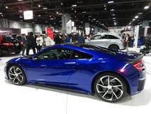 Recht blaues Acura-Sport-Auto Stockbilder
