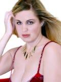 Recht blond Stockbild
