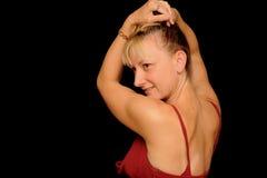 Recht blonde Frau Stockbild