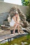 Recht blonde Frau Lizenzfreies Stockfoto