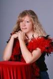 Recht blonde Frau. Stockfoto