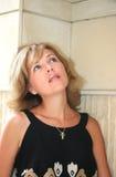 Recht blonde Frau Stockbilder