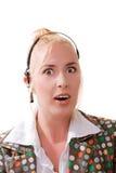 Recht blonde Frau im Schlag Stockfotografie