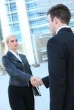 Recht blonde Geschäftsfrau Stockfotos
