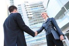 Recht blonde Geschäftsfrau Stockfotografie