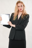 Recht blonde kaukasische Frau Lizenzfreies Stockbild