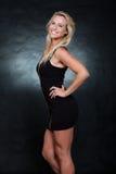 Recht blonde kaukasische Modefrau Lizenzfreies Stockbild