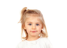 Recht blondes Baby mit blauen Augen Lizenzfreie Stockfotografie