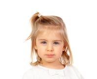 Recht blondes Baby mit blauen Augen Lizenzfreie Stockfotos