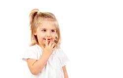 Recht blondes Baby mit blauen Augen Lizenzfreie Stockbilder