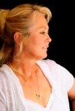 Recht blondes Frauenportrait Lizenzfreies Stockbild