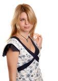 Recht blondes Mädchen Stockbild