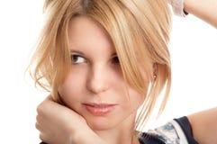 Recht blondes Mädchen Stockfotos