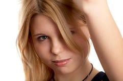 Recht blondes Mädchen Stockfotografie