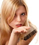 Recht blondes Mädchen Lizenzfreie Stockbilder