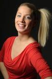 Recht blondes Mädchen Lizenzfreie Stockfotografie