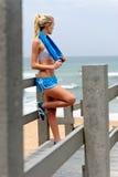 Recht blondes Mädchen in der Sportkleidung Lizenzfreie Stockfotos