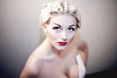 Recht blondes Mädchenbaumuster mögen Marilyn Monroe Lizenzfreie Stockbilder