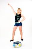 Recht blondes Mädchentanzen Lizenzfreie Stockfotos