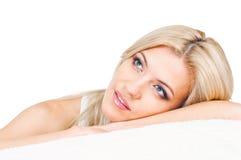 Recht blondes Portrait Stockbild