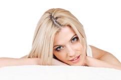 Recht blondes Portrait Lizenzfreies Stockfoto